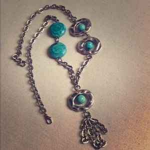 Jewelry - Turquoise and Silver Tassel Necklace